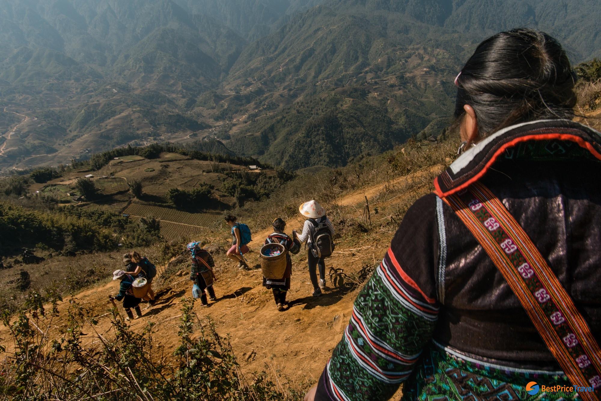 Along trekking route