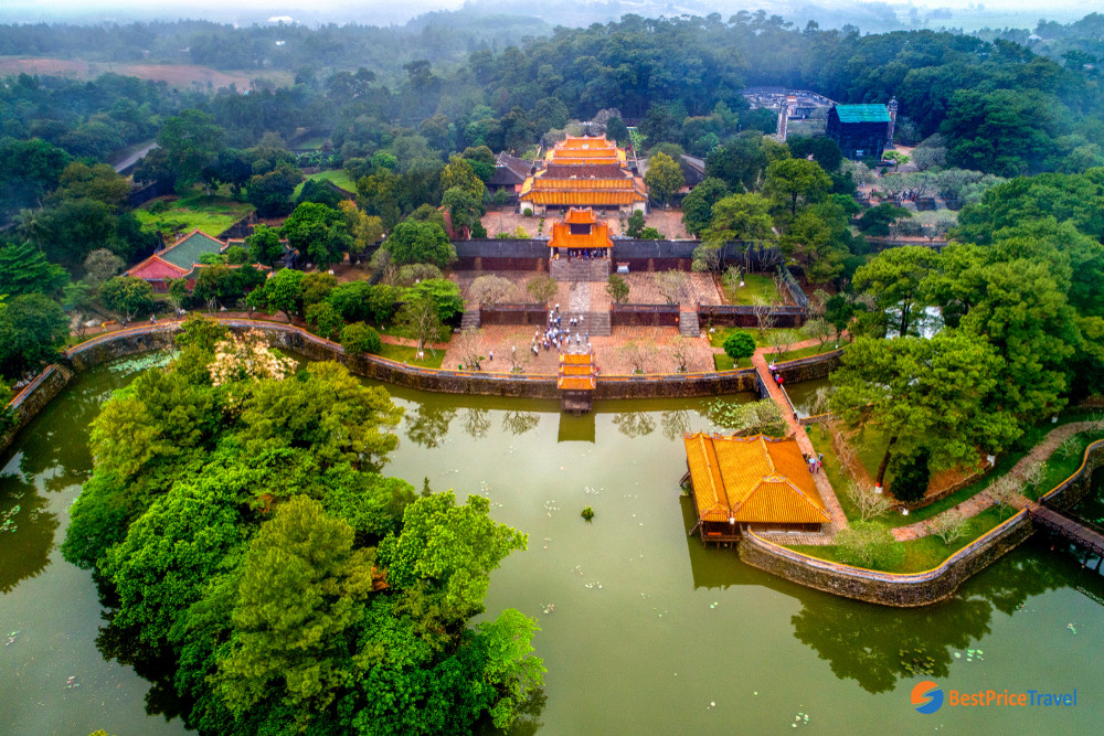 Aerial View Vietnam Ancient Tu Duc