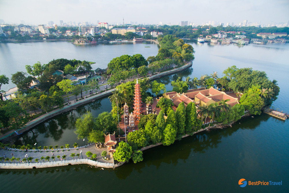 Tran Quoc Pagoda from above