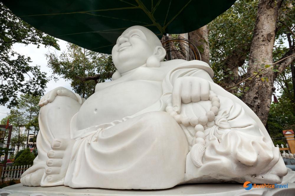 Buddha Statue in Giac Lam Pagoda