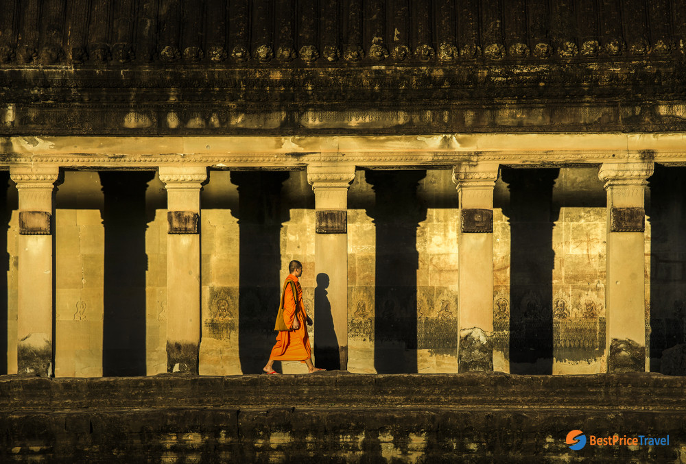 A Monk in Angkor Wat