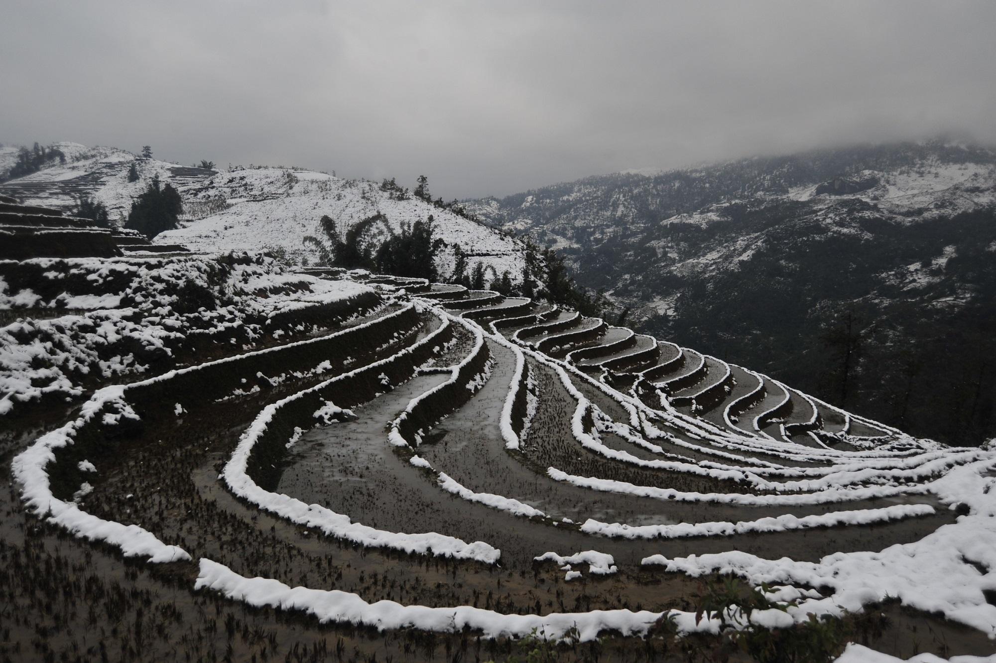 Winter snow in Sapa
