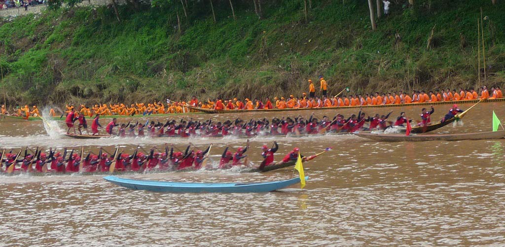 Boat Racing on the Nam Khan River.
