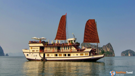 Dragon Pearl Junk - No 14 Halong Bay Small Boat Cruises