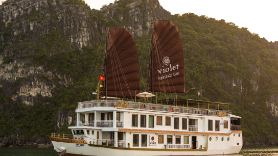 Heritage Line Violet Cruise - No 12 Halong Bay Small Boat Cruises