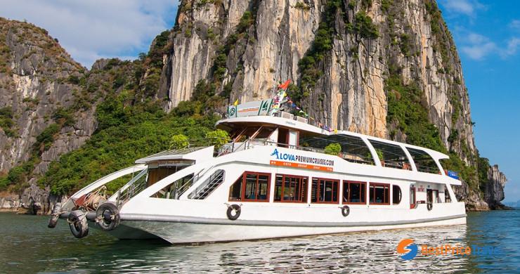 0016859 Alova Premium Cruises Halong Bay 1 Day Group Tour