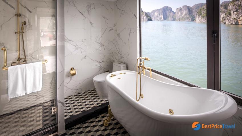 President Cruises Suite Bathroom 1