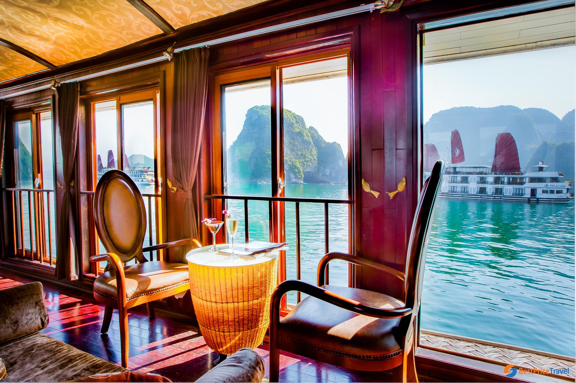 Restaurant on Pelican Cruise