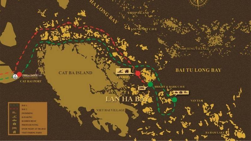 Mon Cheri Cruise Itinerary to Lan Ha Bay