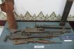 Weapons on Laos War against enemies.