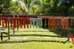 Silk warps dried in the sun