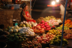 Colourful and Exotic Buffet Items at Night Market