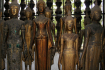 Buddha statues made from wood and bronze