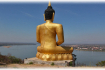 Golden Buddha overlooking the city and the river