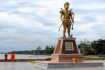 The statue of the former Cambodian King