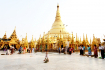 Cleaning Time At Shwedagon Pagoda, Yangon