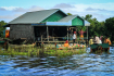 Kampong Phluk Residents Selling Produce At A Make Shift Floating Market