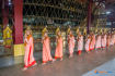 Monks Walking in Chaukhtatgyi Pagoda