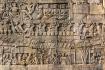 Bas Relief Sculpture At Bayon Temple