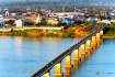 Pakse The Japanese Bridge Over The Mekong River