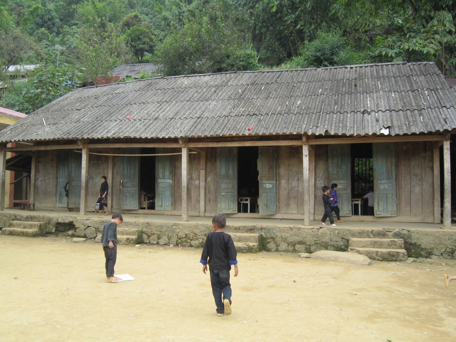 A local shool in Lao Chai Village
