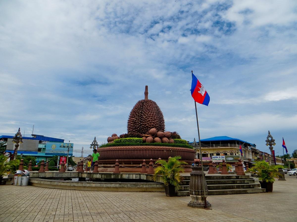 Kampot's durian statue