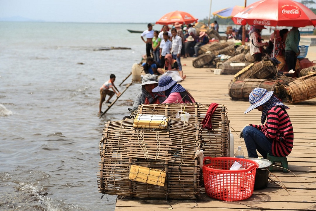 The Crab Market in Kep