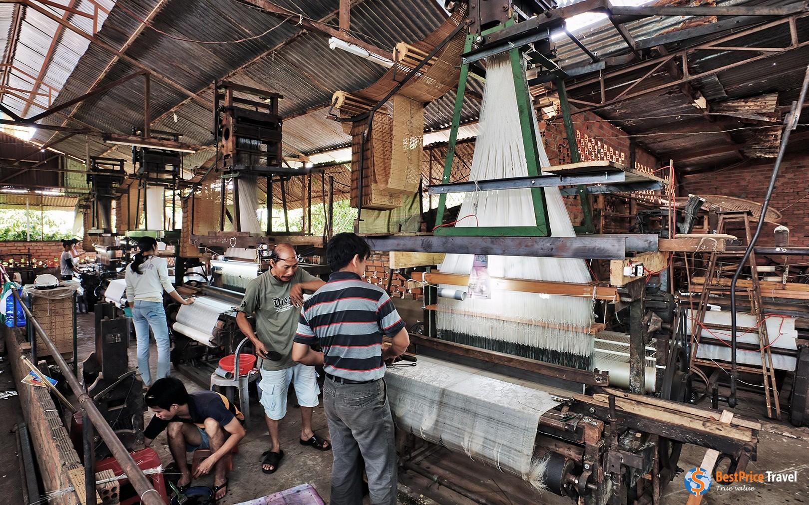 Silk weaving factory in Dalat
