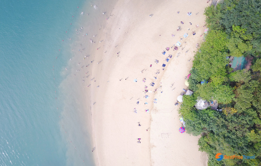 Lovely Titop island beach from above