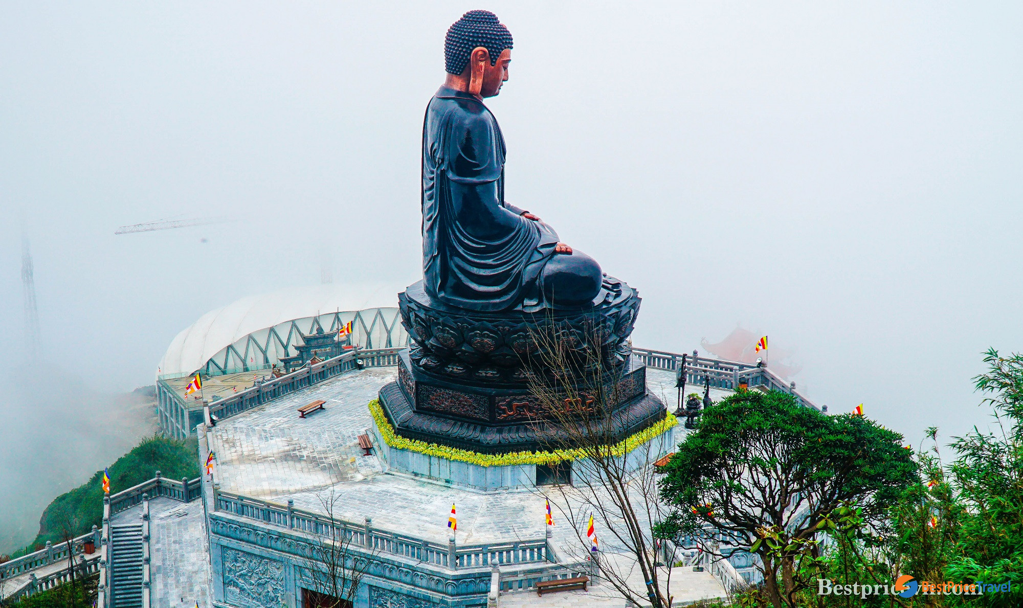 The giant Buddha statue on Mount Fansipan