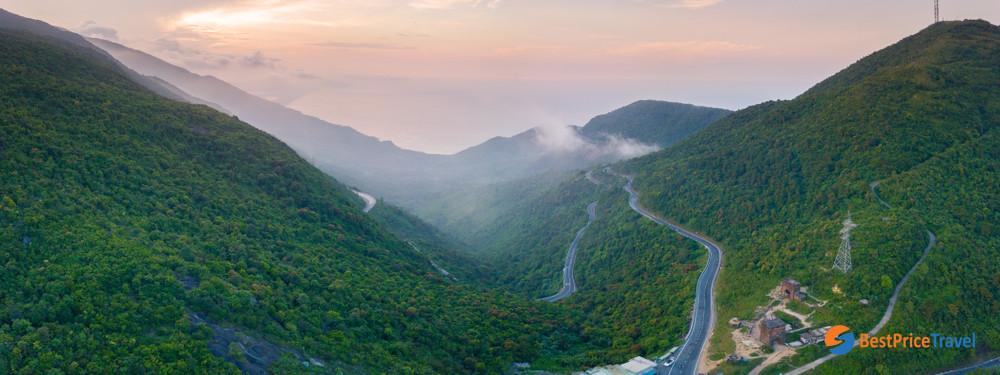 Panorama View of Hai Van Pass