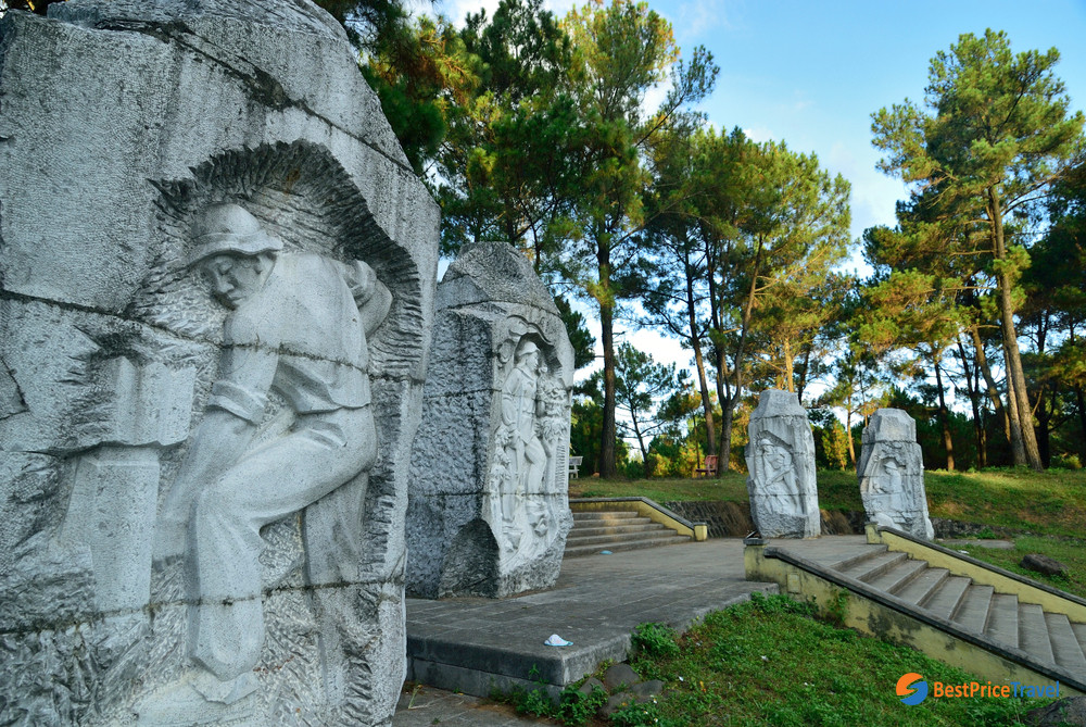 Reliefs at the Truong Son Martyrs' Cemetery