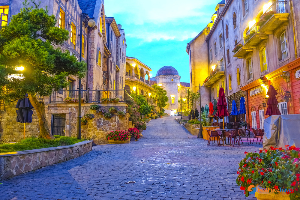 A lovely corner in Ba Na Hills French Village