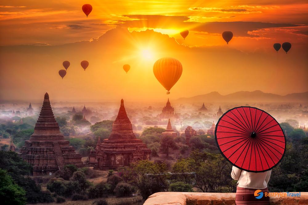 Hot Air Balloon In Mandalay