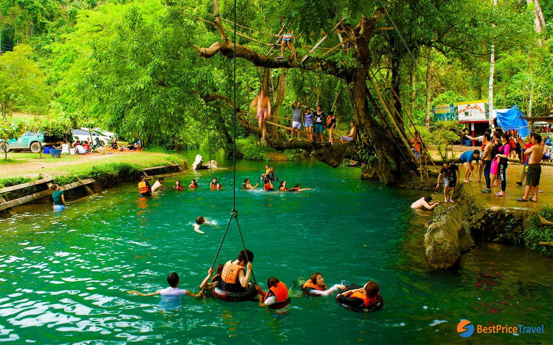 Jump Pool At Blue Lagoon