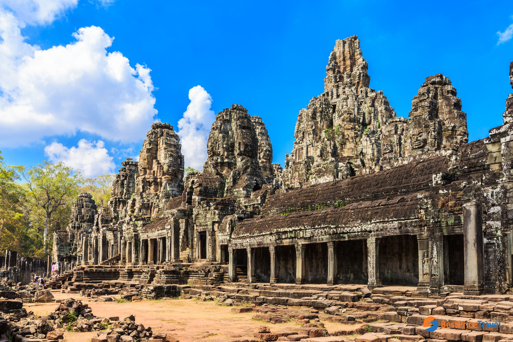 The inner galleries in Bayon Temple