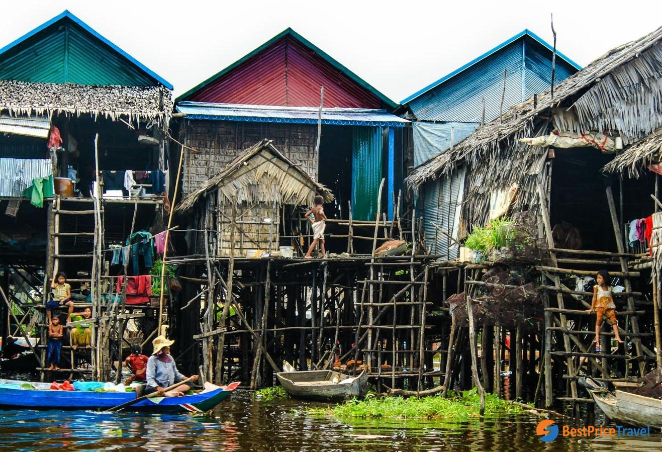 The local life on Kampong Phluk
