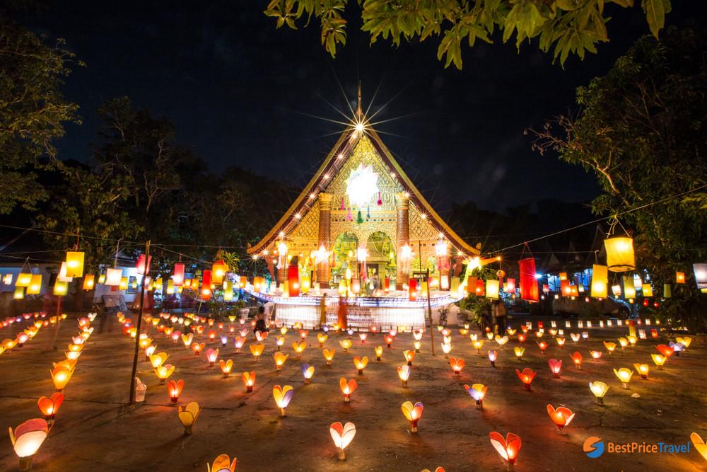 Wan Ok Phansa celebration, last day of the Thai-Lao observance of Vassa