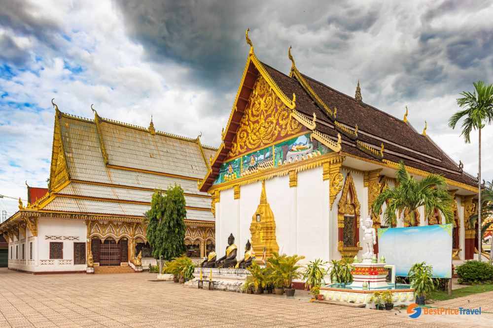 The campus at Wat Luang complex