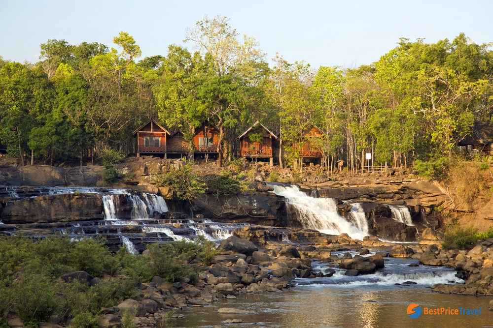 The laid-back village waterfall in Pakse