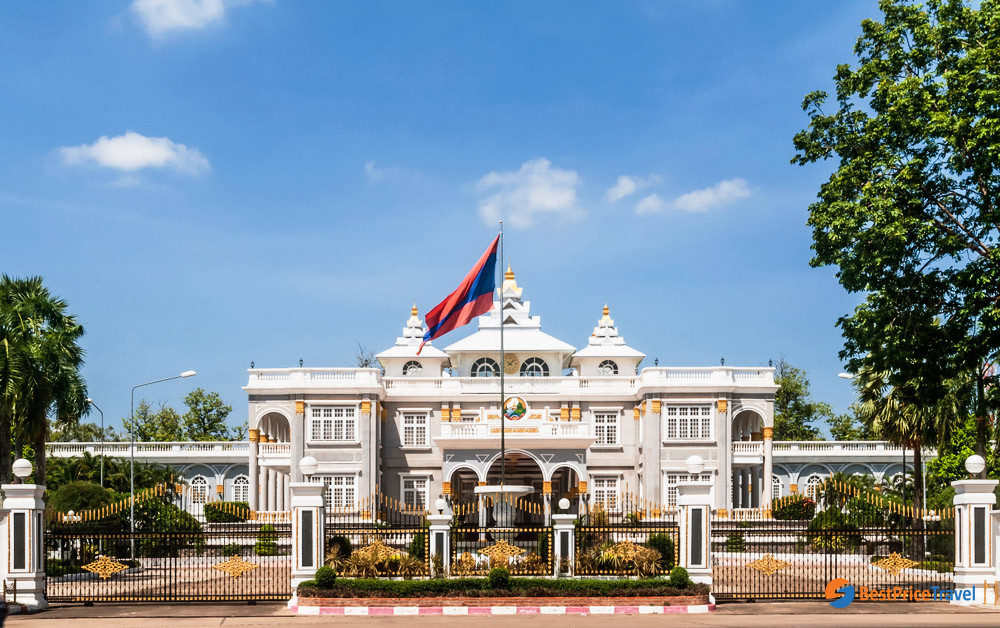 The Presidental Palace in the central of Vientiane
