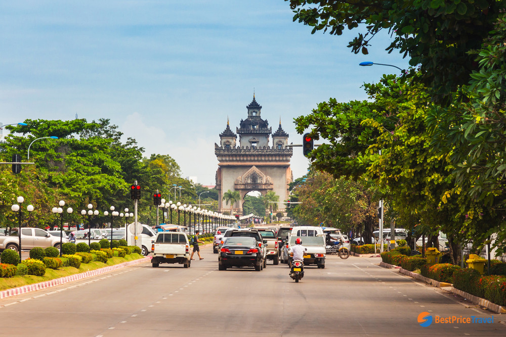 PatuxaiGate, the French colonial architecture in Vientiane