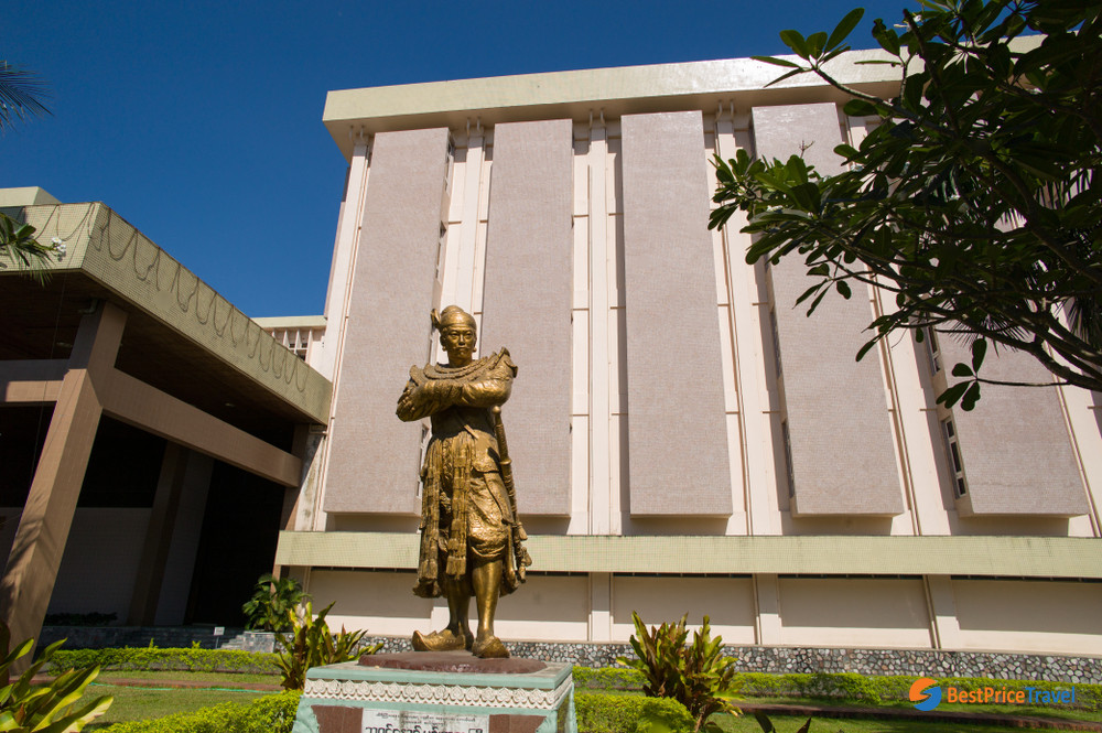 The Statue Of King Anawratha at the National Museum of Myanmar