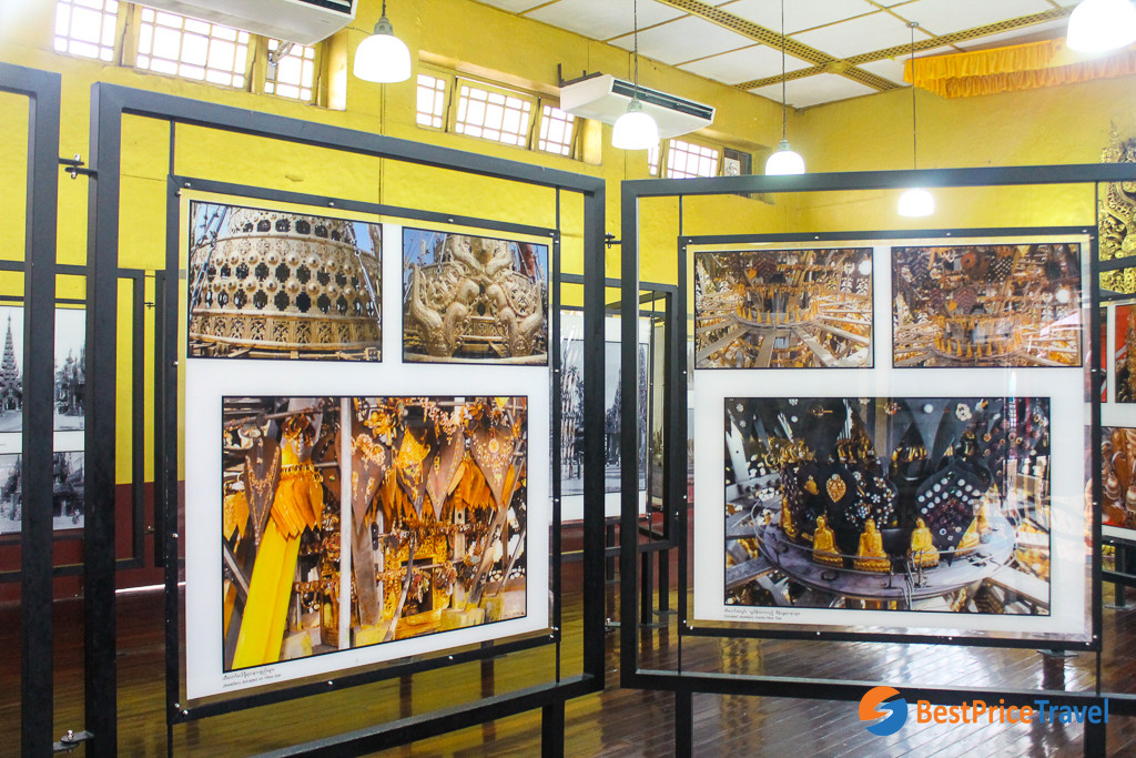 Photo gallery in the Shwedagon Pagoda