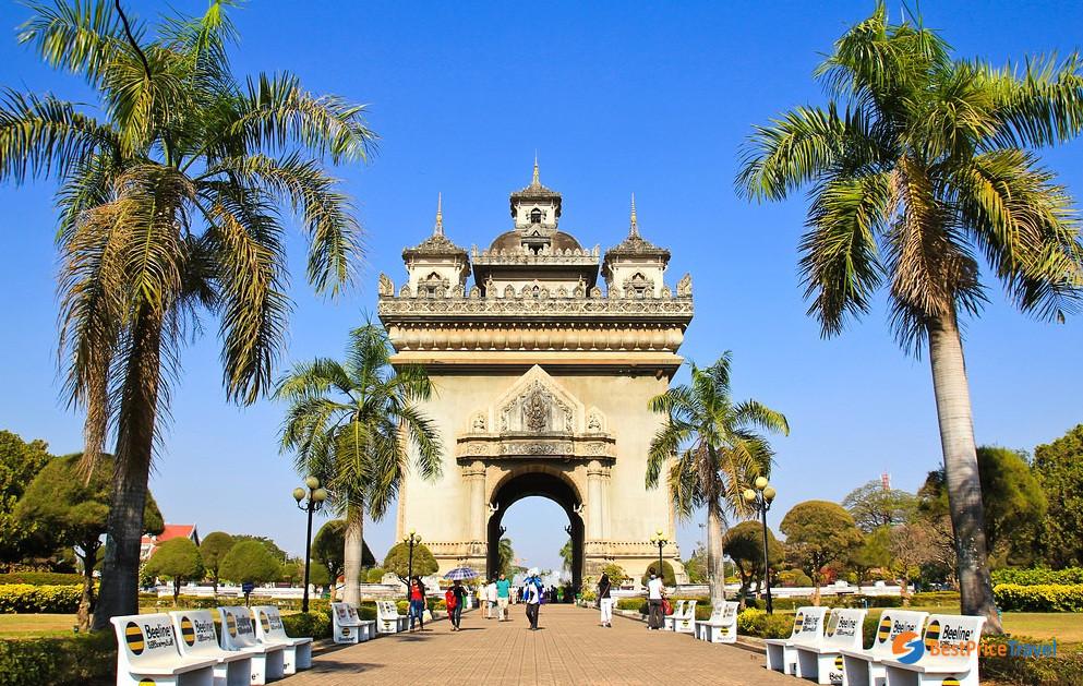 Patuxai, the most iconic landmark of Laos