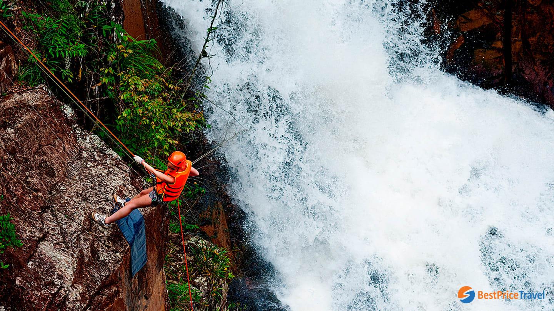 Adventurous activities at Datanla Waterfall