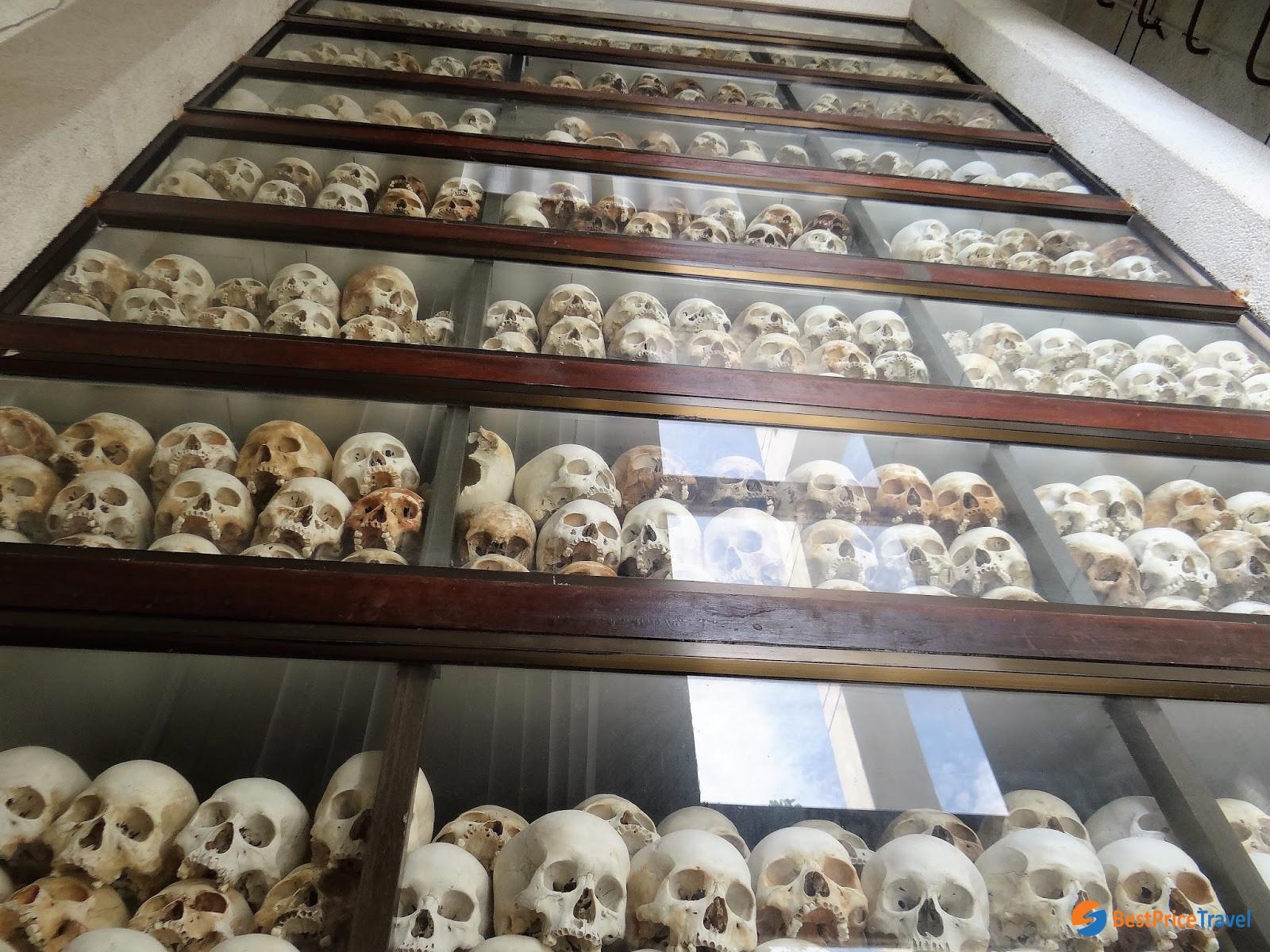 Cambodian skulls in Choeung Ek