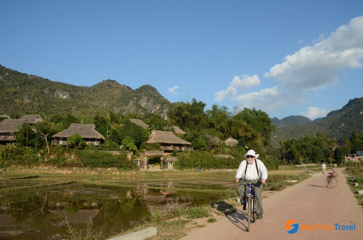 Biking Around The Village