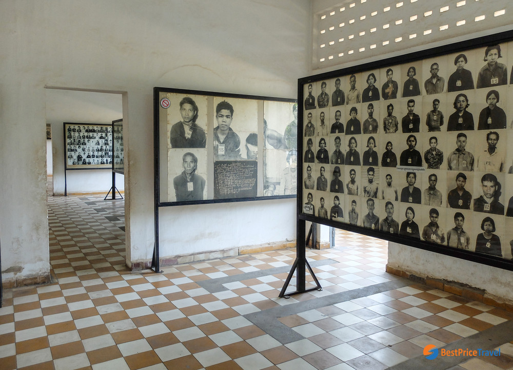 Tuol Sleng prison of the Khmer Rouge