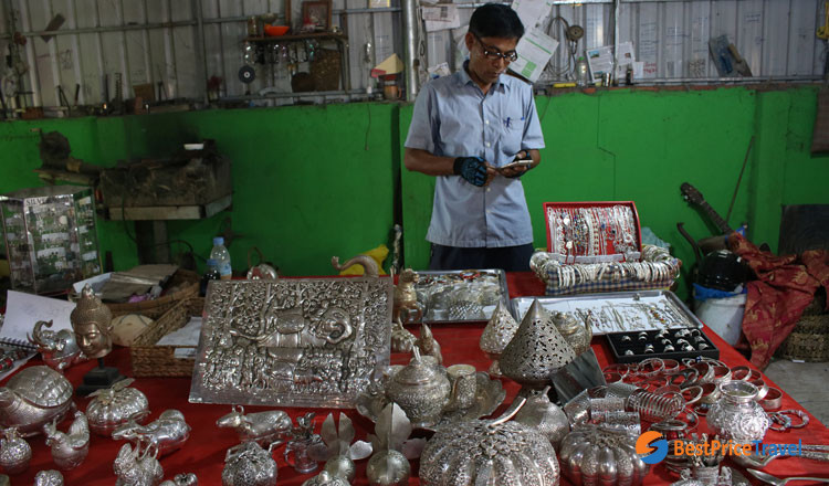 Silversmith Village in Cambodia